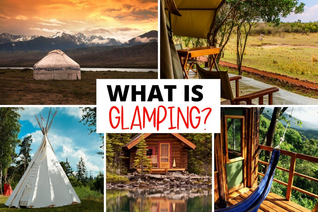 what is glamping with various glamping accommodations